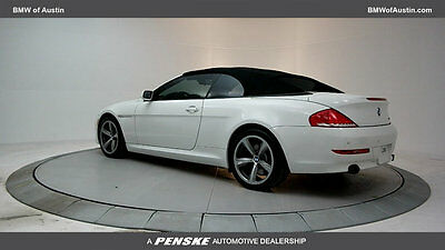 2009 BMW 6-Series 650i 650i 6 Series 2 dr Convertible Automatic Gasoline 4.8L 8 Cyl Alpine White