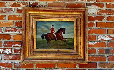 Vintage Signed Fine Art Oil on Canvas Equestrian Painting of a HORSE