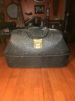 Antique Textured Leather Doctor's Bag / Satchel -  Nice Condition