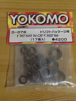 Yokomo D-076 Drift Package Full Teflon Ball Bearing Set - Rare And Discontinued