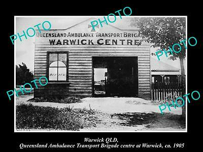 Old Large Historic Photo Of Warwick Queensland, The Qatb Brigade Station 1905