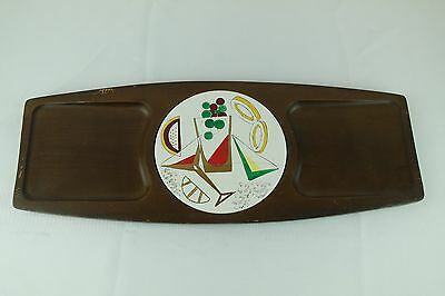 Vintage Retro 1950's - 1960's Wood Wooden Bar Serving Tray - Martini
