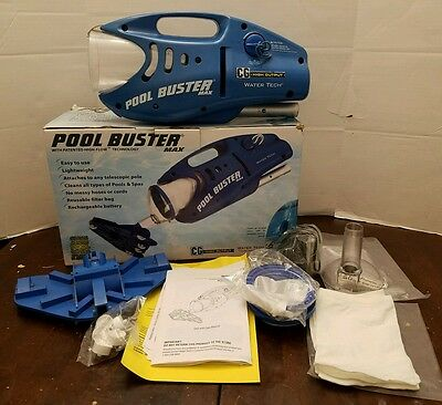 POOL BUSTER MAX by WATER TECH CORDLESS POOL SPA VACUUM