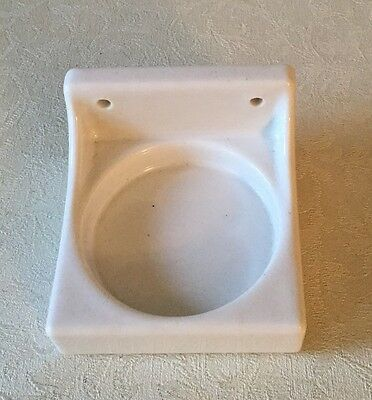 Vintage White Porcelain Bathroom Wall Cup Holder