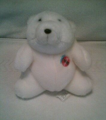 "1993 Coca-Cola ""always Coca-Cola"" Plush Stuffed 7"" Polar Bear"