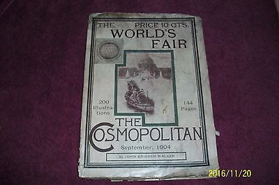 1904 World Fair Book The Cosmopolitan 144 Pages 200 Illustrations Good Condition