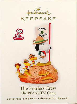 Snoopy Hallmark Ornament Beagle Boy Scout The fearless Crew 2010