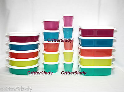 NEW Tupperware Big Wonders Lunch it Divided Containers Snack Cups and Midgets