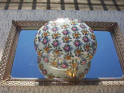 Breathtaking Home & Garden Home Decor Vintage Chic Footed Dresser Jewelry / Box