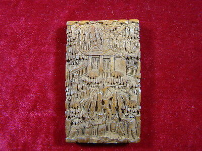 Chinese 1900's nice carved wood box  p95