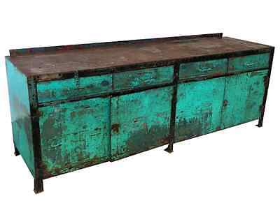 Industrial Painted Metal Server Sideboard