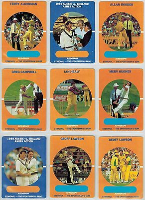 Scanlens / Stimorol 1989-90 Cricket Collector Cards - 61 from set of 84