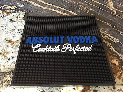 Absolut vodka large bar rail spill mat **BRAND NEW** Bar display