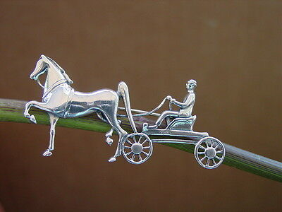 Saddlebred Carriage Horse Pin / Brooch Equestrian Jewelry, Polo Horse Jewelry,