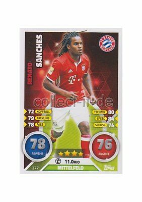 Match Attax 16/17 2017 - 277 - Renato Sanches