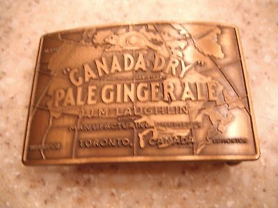 1984 Canada Dry Pale Ginger Ale Advertising Belt Buckle.