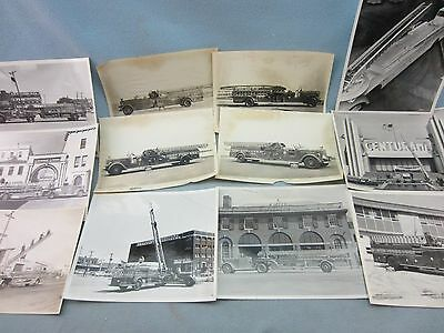 Pirsch fire engine Factory delivery and promotional photos. 1940-70s -12 photos