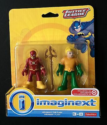Fisher Price Imaginext Justice League Aquaman & The Flash New