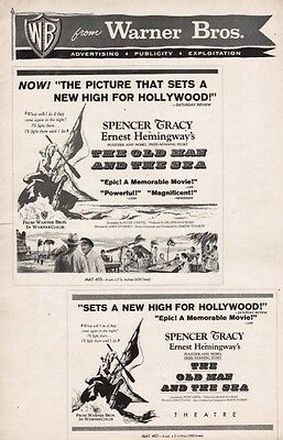 THE OLD MAN AND THE SEA pressbook, Spencer Tracy, (Ernest Hemingway)