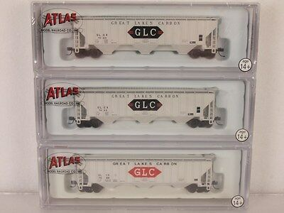 Atlas 5544 N-Scale Thrall 4750 Covered Hopper 3-Pack Great Lakes Carbon GLC