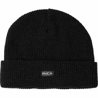 d58510bc RVCA AVES Mens Beanie (NEW) Black Beenie RUCA SNOW Cold Winter Cap FREE  SHIPPING
