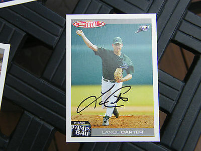 Lance Carter Autographed 2004 Topps Total Tampa Bay Devil Rays