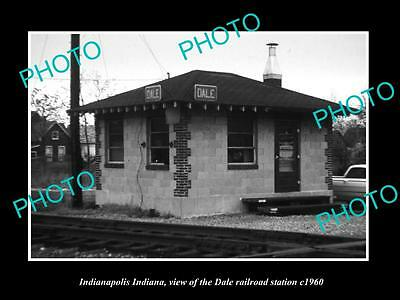 OLD HISTORIC PHOTO OF INDIANAPOLIS INDIANA, THE DALE RAILROAD STATION c1960