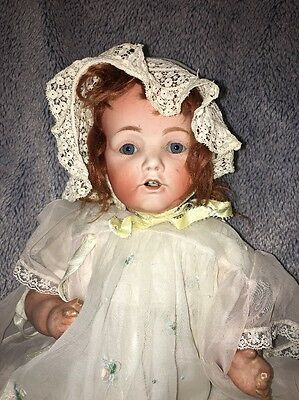"Big 19""'1920's Antique Morimura Nippon Bisque Composition Doll"