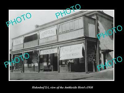OLD LARGE HISTORIC PHOTO OF HAHNDORF SA, VIEW OF THE AMBLESIDE HOTEL c1930