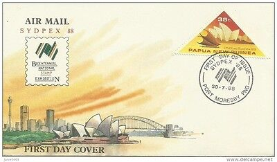 Papua New Guinea 1988 Sydpex Stamp Exhibition FDC