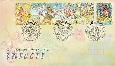 Cocos (Keeling) Islands 1995 Insects FDC