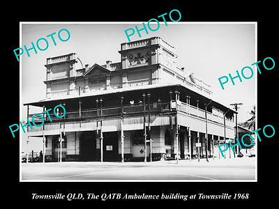 OLD LARGE HISTORIC PHOTO OF TOWNSVILLE QLD, THE QATB AMBULANCE STATION c1969