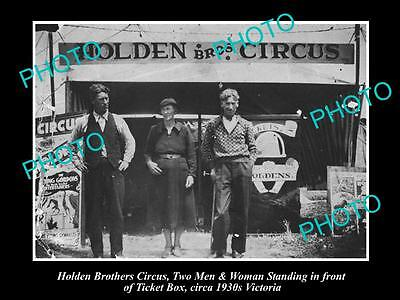 OLD LARGE HISTORIC PHOTO OF THE HOLDEN BROTHERS CIRCUS, c1940s VICTORIA 2