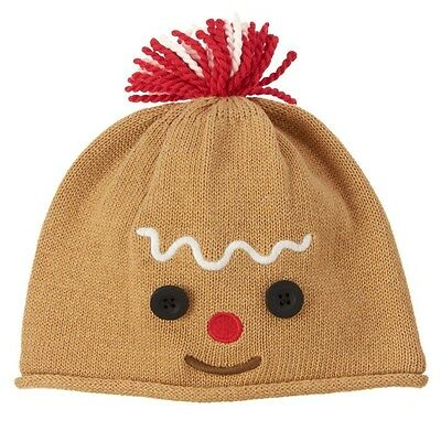 NEW Gymboree Baby Boys 6-12 mos Gingerbread Boy Cotton Fleece Knit Hat