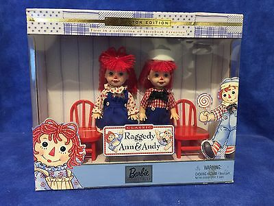 New 1999 Collector Edition Kelly Tommy Barbie Raggedy Ann And Andy Doll