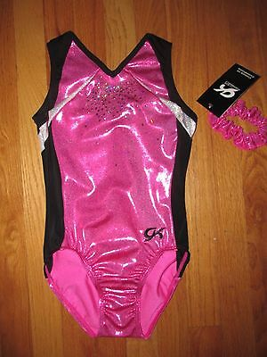 NWT GK Elite Silver Hologram Sequins Gymnastics Leotard AXS, AS Or AM $64.99