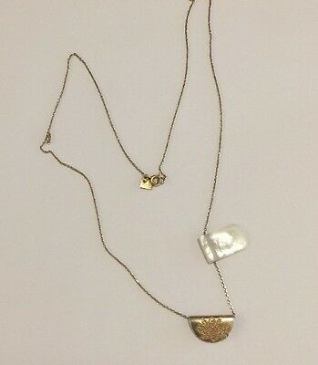 By Charlotte Gold Lotus Moonlight Necklace With Mother Of Pearl