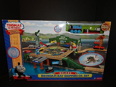 Thomas And Friends Wooden Railway Deluxe Brendam Bay Shipping Company Set  New