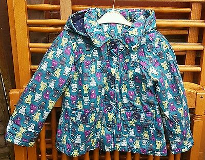 Gorgeous TU Girls 'Cat' Coat/Jacket, Green/Multi,  Age 3-4 Years