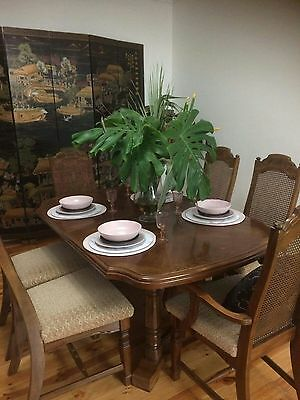 Extendable dining table plus 6 chairs