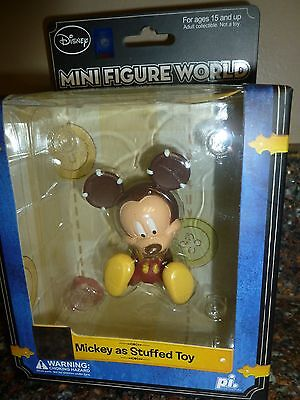 """Disney """"Mickey Mouse as Stuffed Toy"""" Mini Figure 3"""" Brand New Collectors Item"""