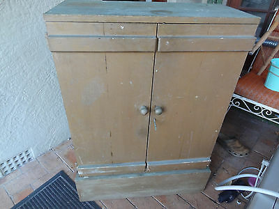 Vintage Wooden Tool Chest / Box.  For The Collector