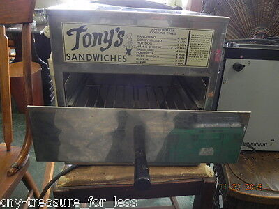 Wisco Deluxe Sandwich Oven Model 1000 Stainless Steal (Tonys Edition) rare