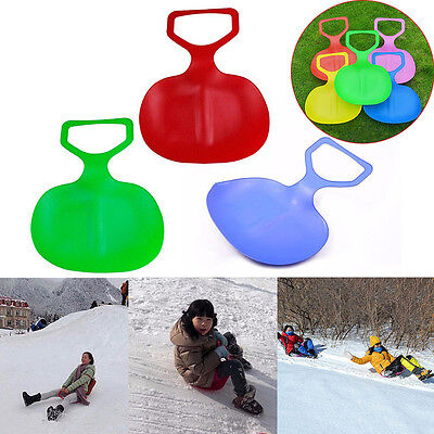Outdoor Kids/Adult Winter Plastic Grass Skiing Sled Board Snow Snowboard