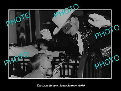 OLD HISTORIC PHOTO OF BRACE BEEMER AS THE LONE RANGER IN KIDS HOSPITAL c1950 2