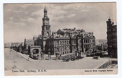 """Early postcard: """"Town Hall. Sydney. NSW"""" Kerry Series 86."""