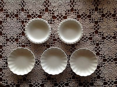 5 SPODE VELAMOUR PIN PLATES  - -2 DIFFERENT shapes