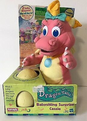1999 Playskool Dragon Tales Cassie Babysitting Surprise Plush In Box Egg
