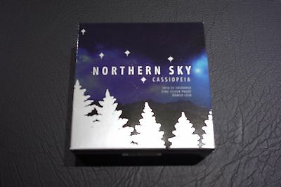2016 $5 NORTHERN SKY CASSIOPEIA Domed Silver Proof Coins