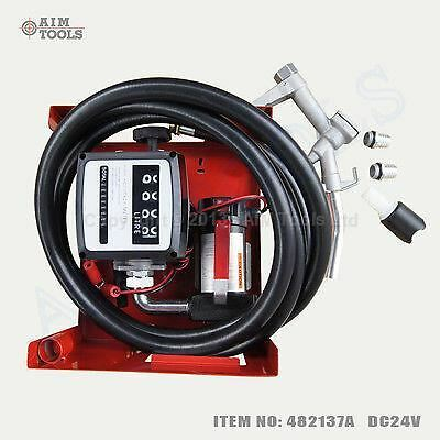 DC 24V Self-priming Diesel transfer Pump Kit With Counter Hose and Gun 150W